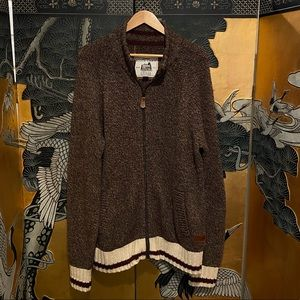 Roots Cabin Wool Cardigan Sweater Made in Canada